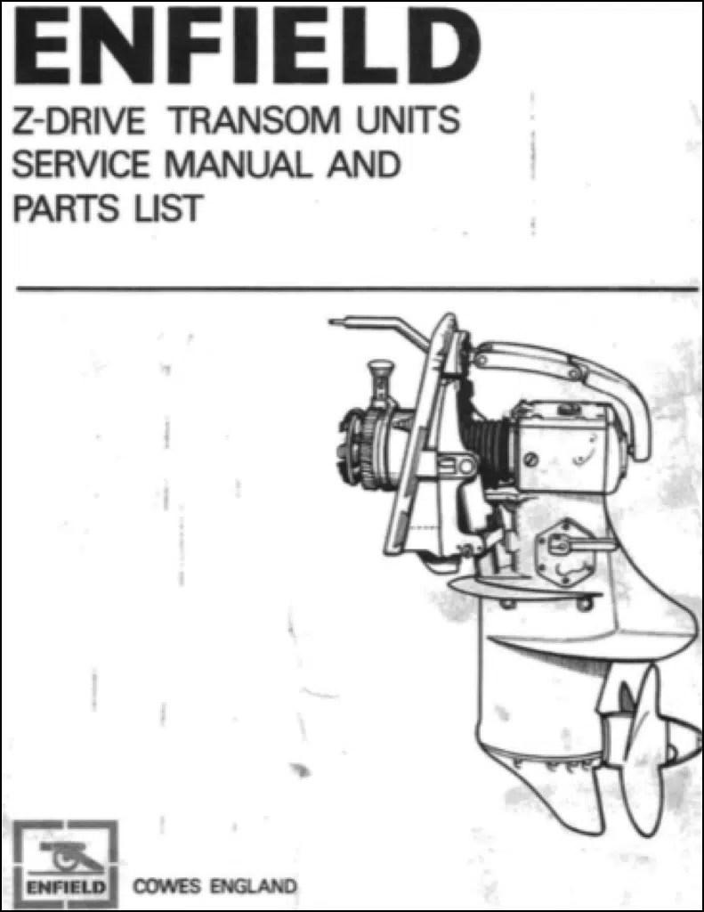 Enfield Z Unit Marine Gearbox (Sterndrive) Models 130