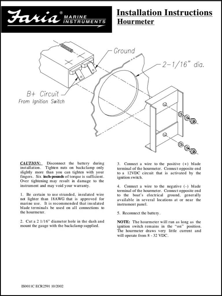 hight resolution of faria hourmeter installation instructions