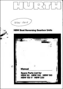 Manuals for Hurth Marine Transmissions / Gearboxes