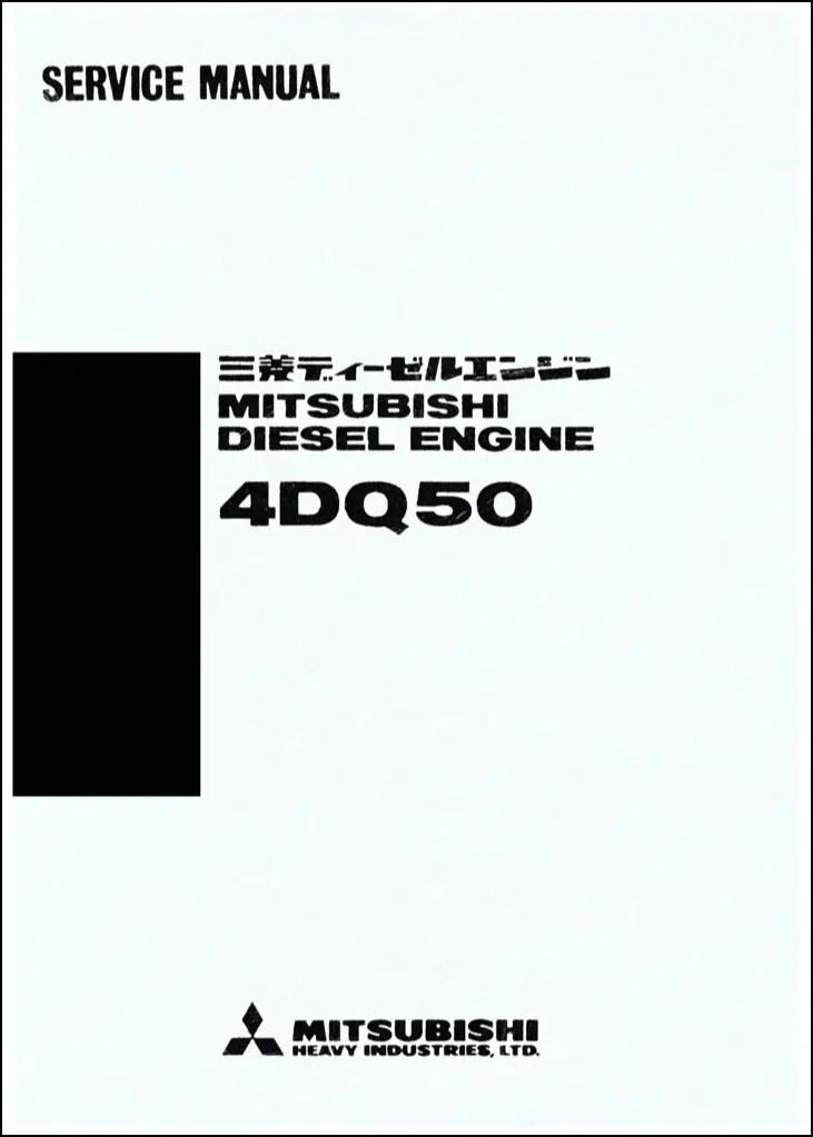 Mitsubishi 4DQ50 diesel engine Service Manual in English