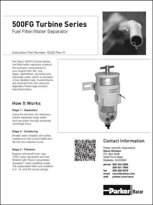 small resolution of racor 500fg diesel fuel filter instructions