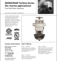 racor 500ma diesel fuel filter instructions [ 819 x 1024 Pixel ]