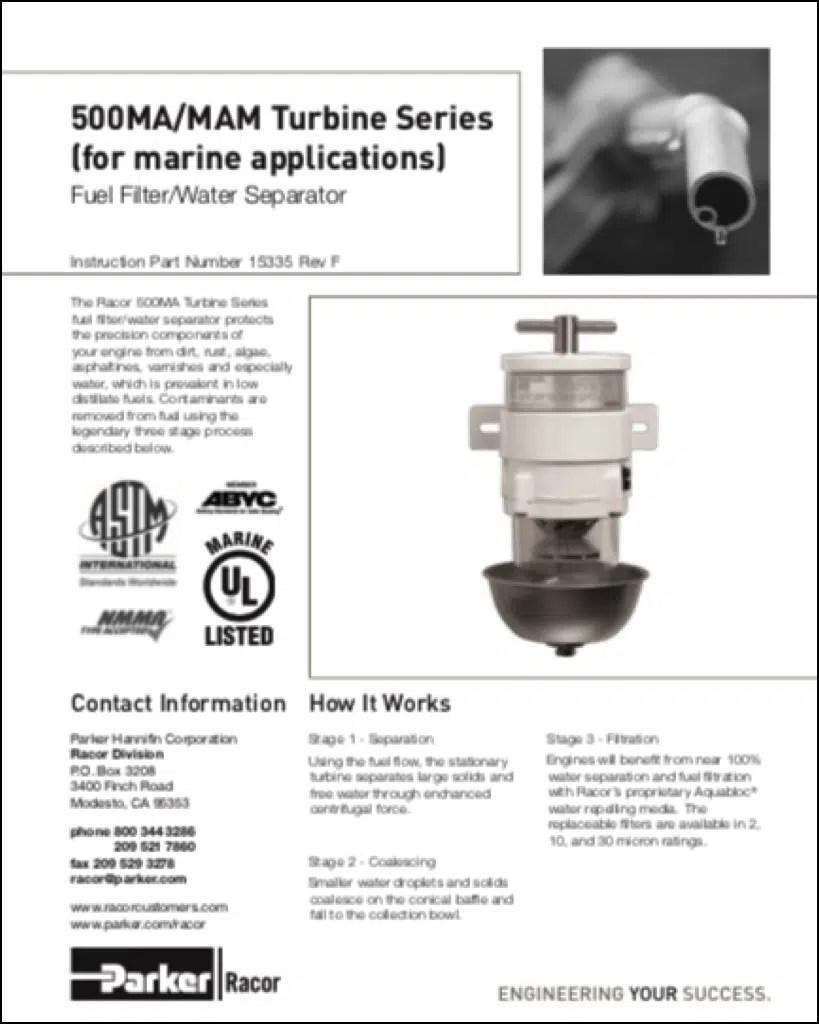 medium resolution of racor 500ma diesel fuel filter instructions