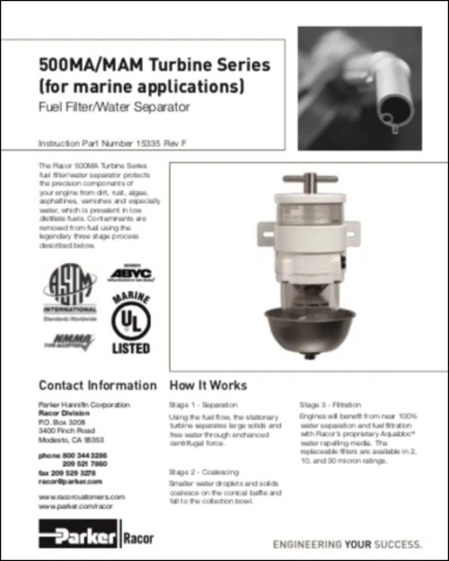small resolution of racor 500ma diesel fuel filter instructions