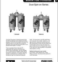 racor diesel fuel filter dual spin on series [ 768 x 1024 Pixel ]