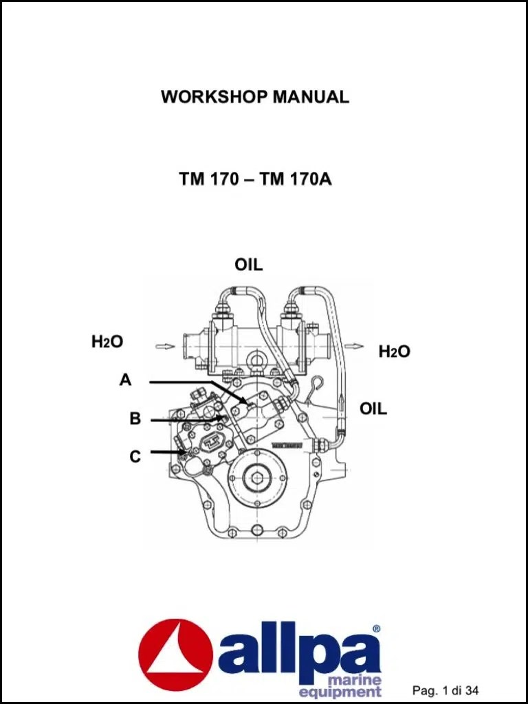 Twin Disc TM 170 marine transmission Workshop Manual