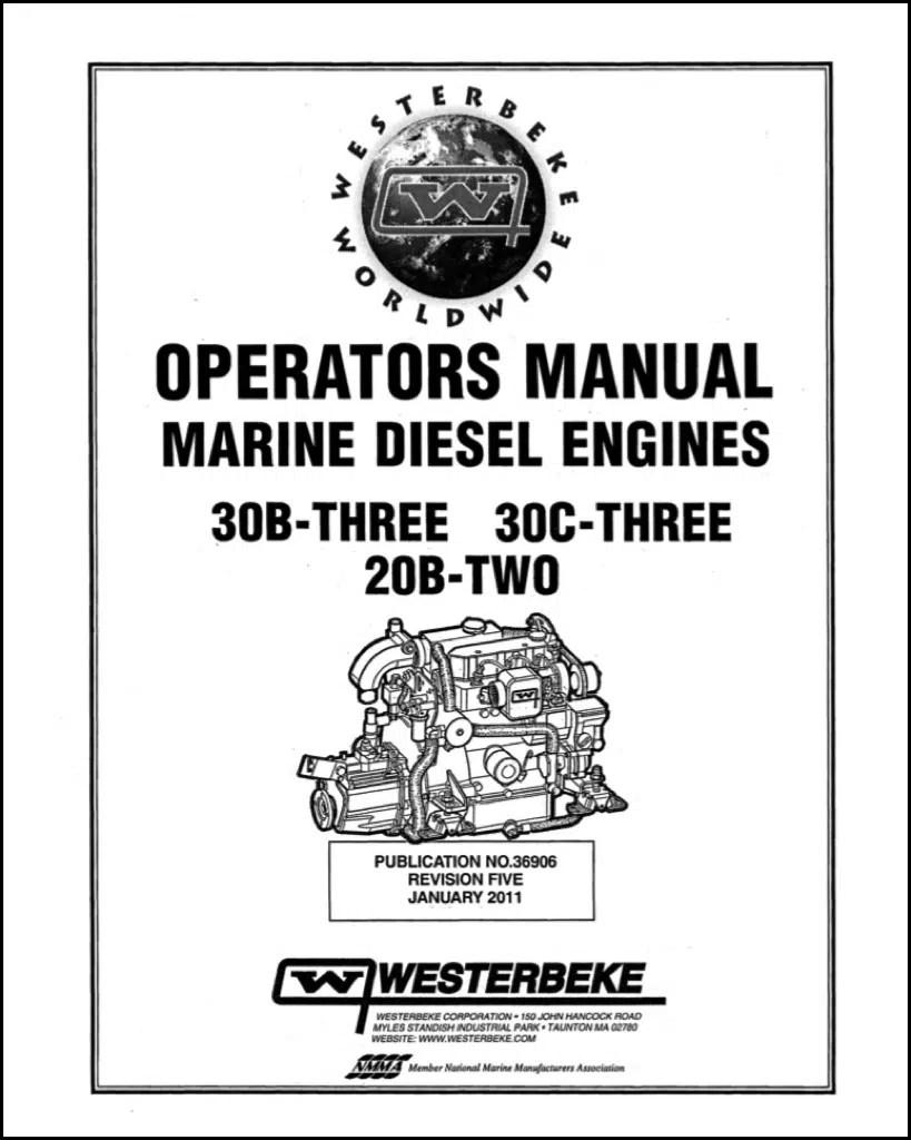 Westerbeke 30B Three Marine Diesel Engine Operators Manual