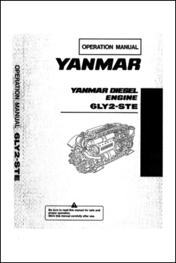 Yanmar 6LY2-STE Marine Diesel Engine Operation Manual