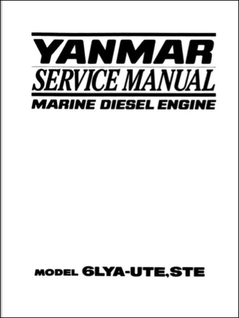 Yanmar 6LYA-UTE Marine Diesel Engine Service Manual