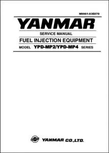 Manuals for YANMAR Diesel Fuel Pumps and Equipment