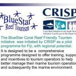 BlueStar Coral Reef Friendly Tourism Presentation