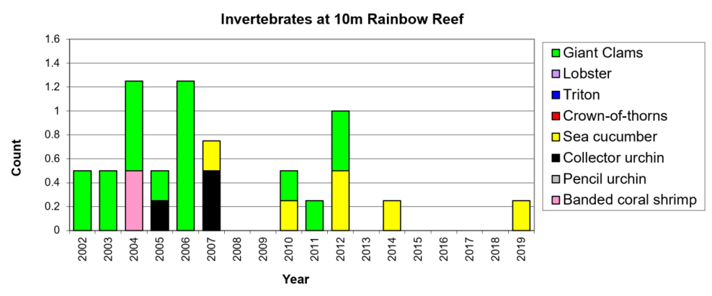 Figure 14:  Invertebrates 10m Great White Wall -  Taveuni - Rainbow Reef