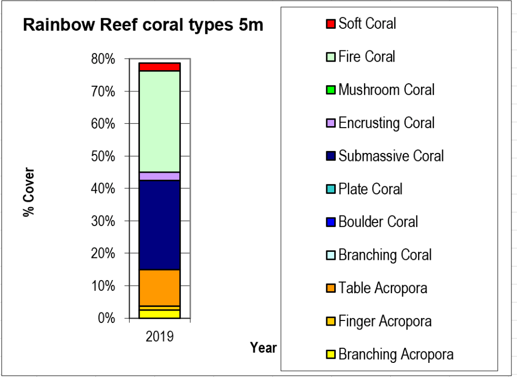 Figure 6:  Rainbow Reef coral types 5m -  Taveuni - Rainbow Reef