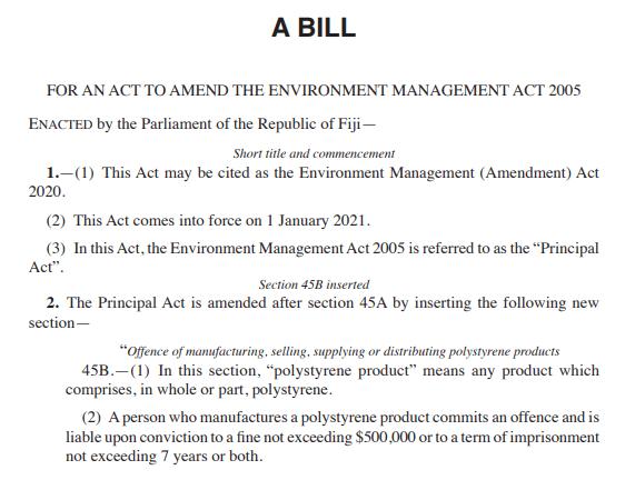 Environment Management (Amendment) Bill 2020