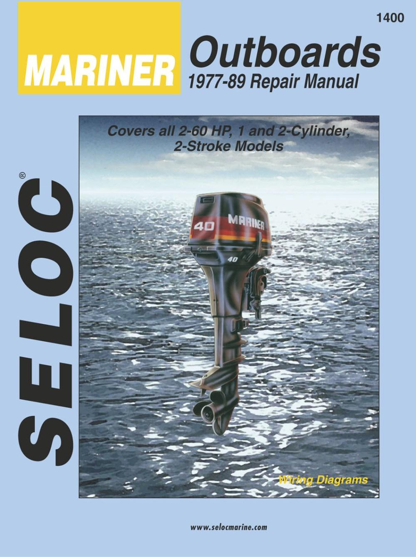 medium resolution of mariner outboard 2 60 hp 1977 1989 repair service manual