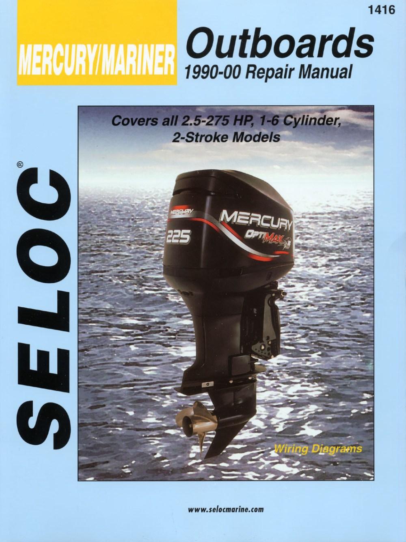 medium resolution of mercury mariner outboards 2 5 275 hp 1990 2000 repair service manual