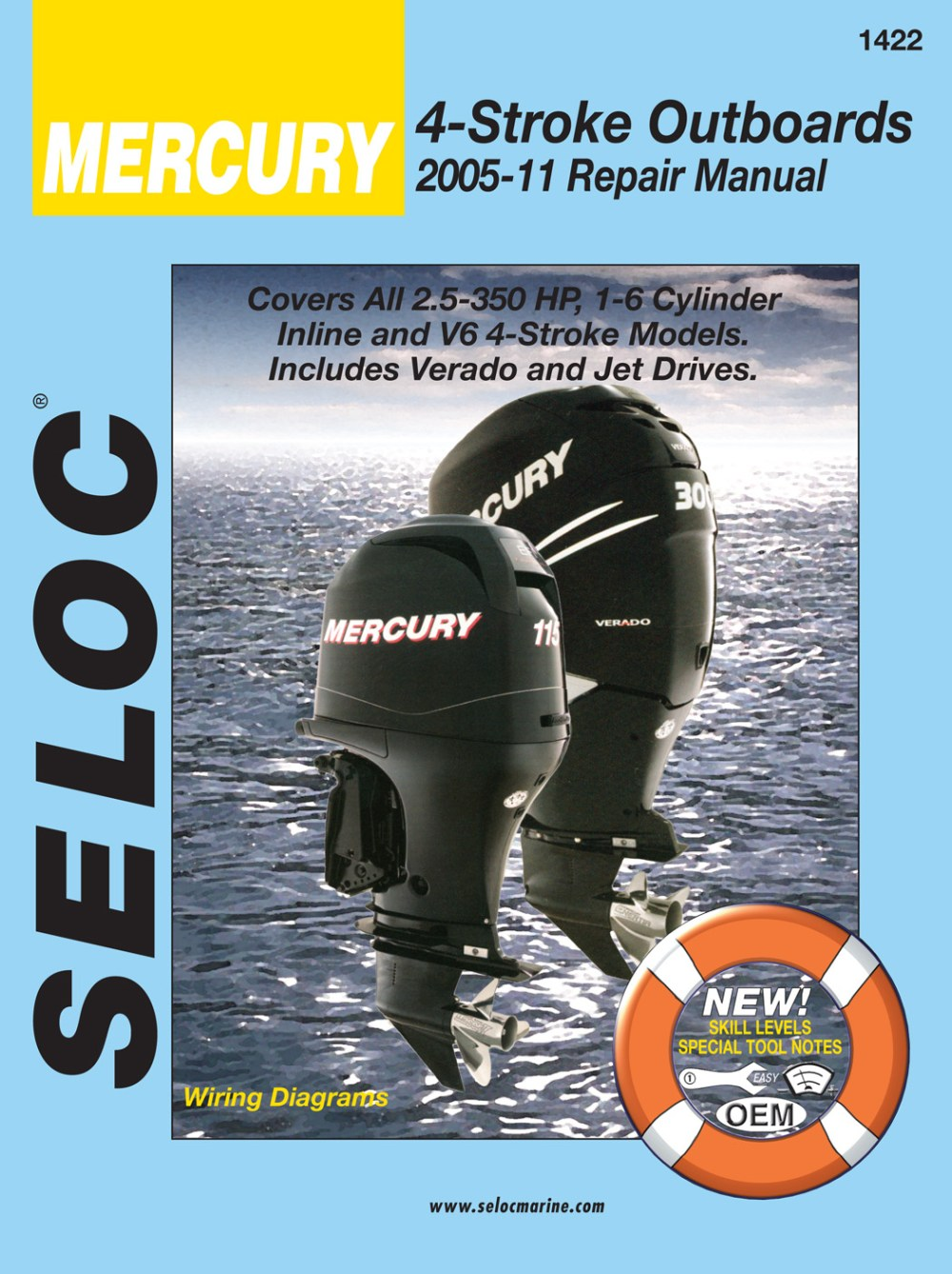 medium resolution of mercury 4 stroke outboards all 2 5 350 hp 2005 2011 repair service manual