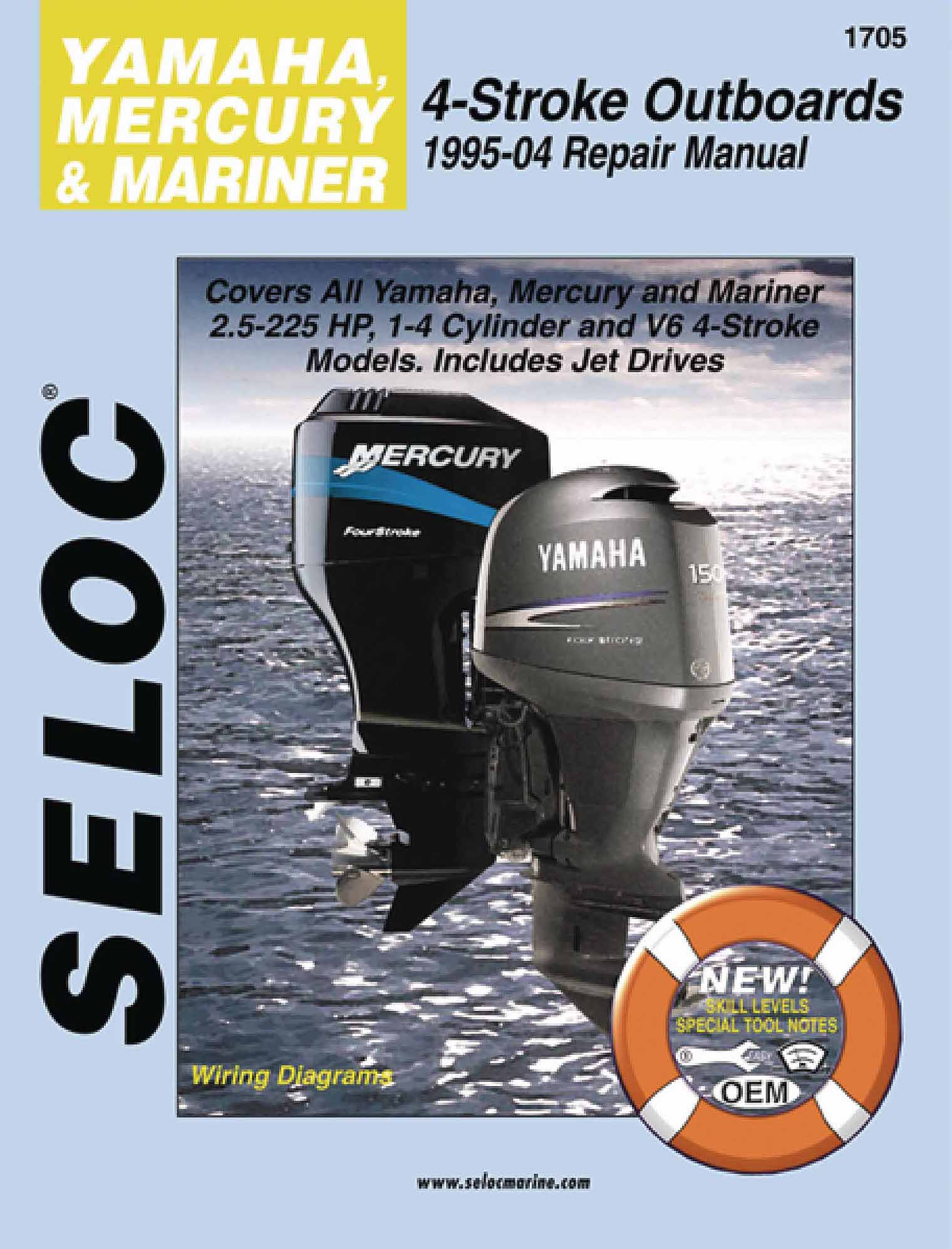 hight resolution of yamaha mercury mariner 4 stroke outboards all 2 5 225 hp 1995