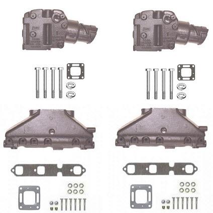 mercruiser manifold riser kits 4 3 5