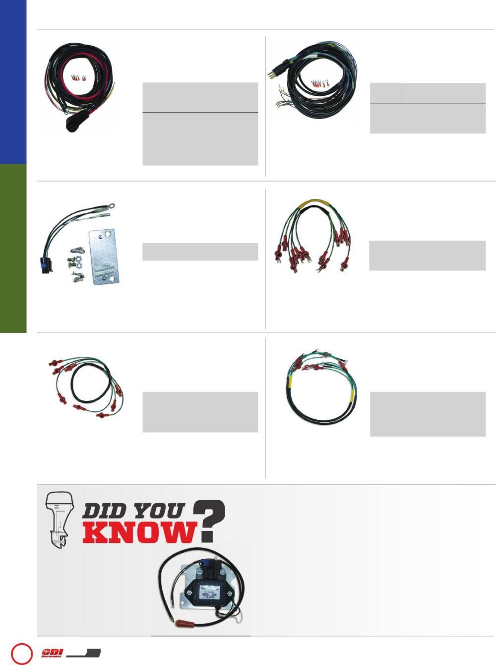 medium resolution of wiring harnesses ignition coils mercury mariner cdi electronics catalog