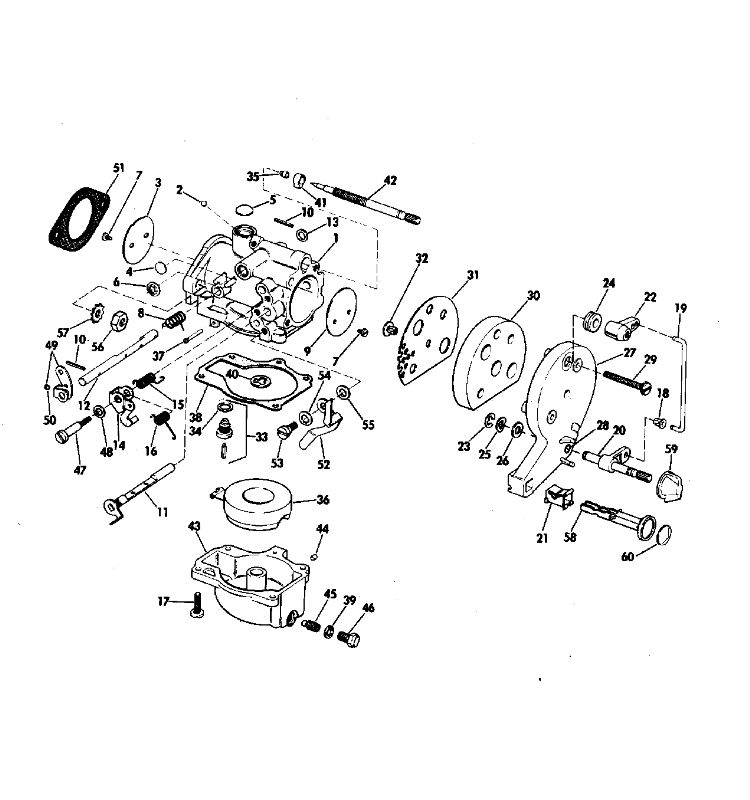 Johnson Carburetor Parts for 1971 25hp 25R71S Outboard Motor