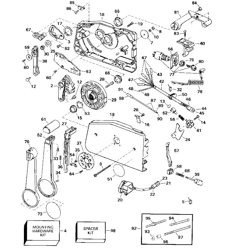 Flush Mount Throttle Control Mercury Outboard Diagram
