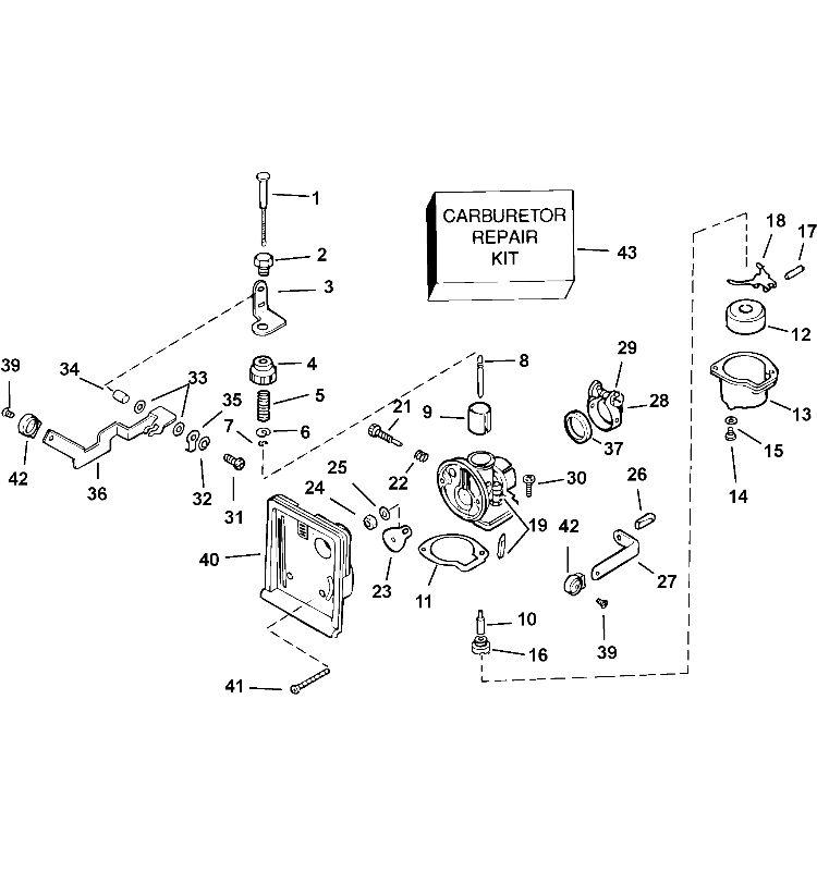 carburetor Parts for 2003 3.5hp j3rstb Outboard Motor