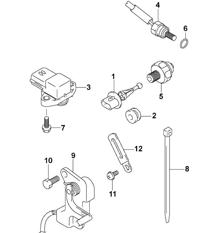 Johnson Sensor Group Parts for 2004 140hp J140PX4SRS