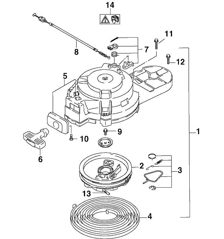 recoil starter Parts for 2004 15hp j15r4sr Outboard Motor