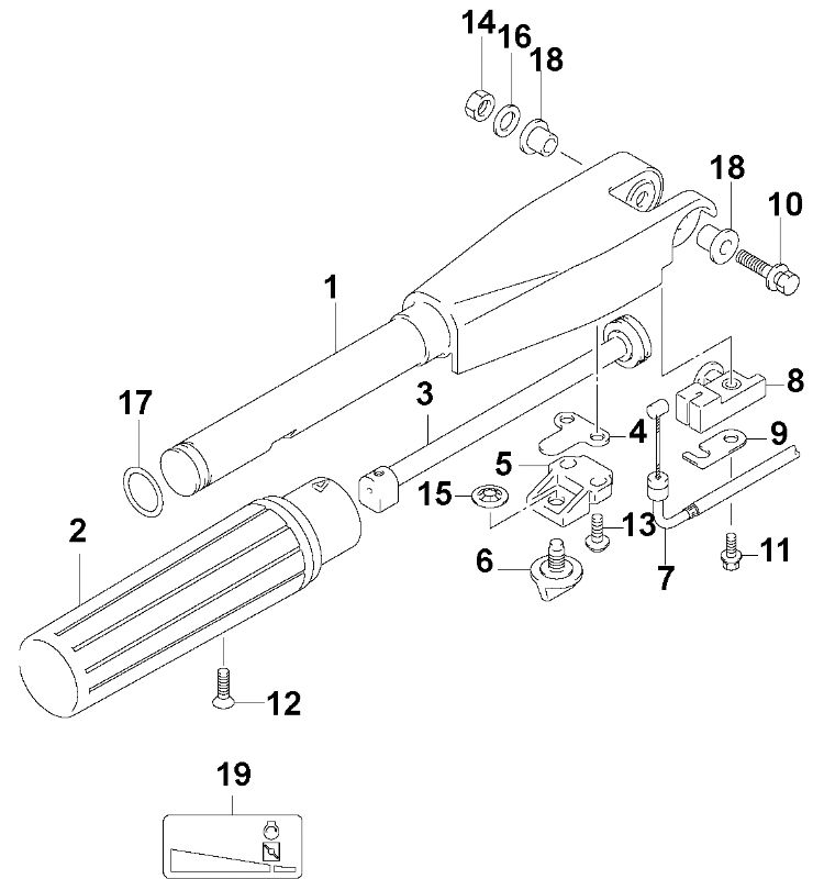 Johnson Steering Handle Parts for 2005 6hp J6R4SOS