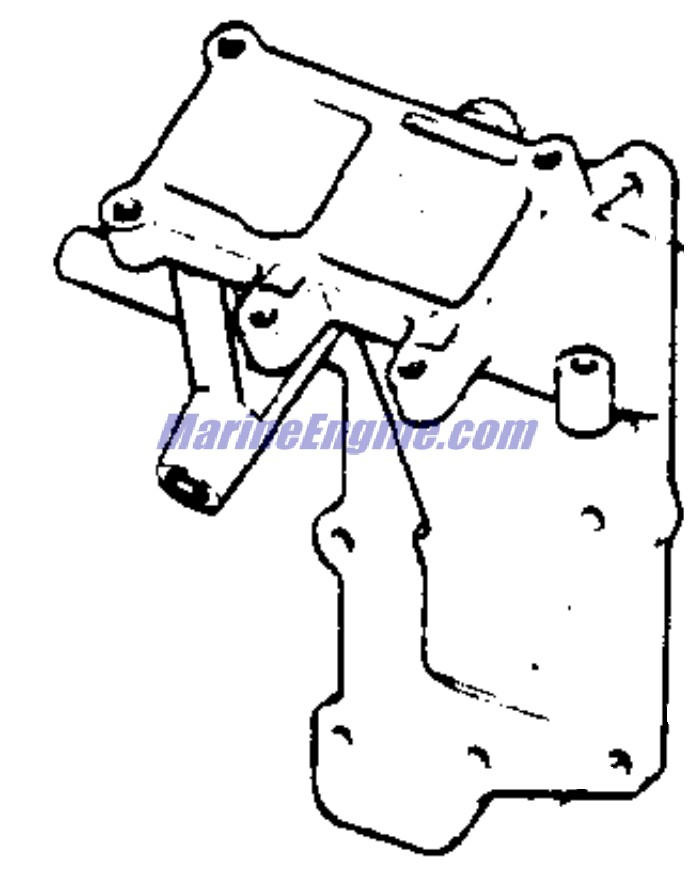 intake manifold Parts for 1972 9.5hp 9rl72m Outboard Motor