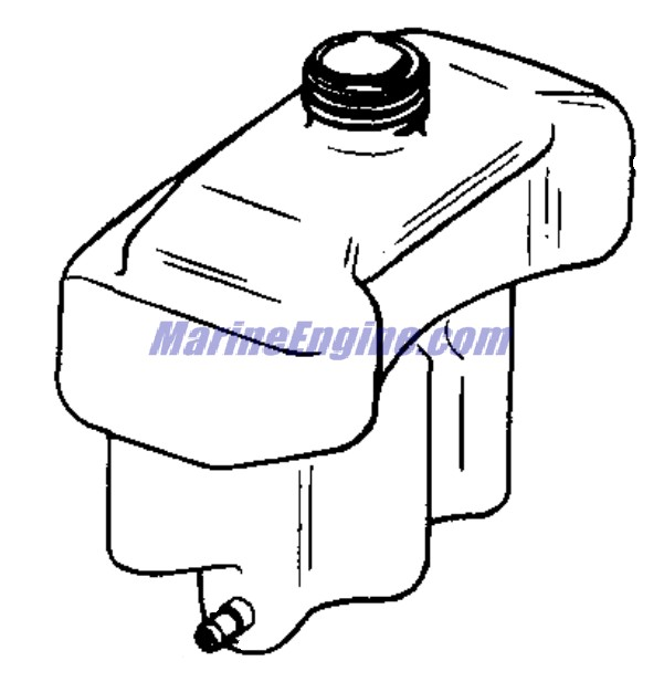 Johnson Fuel Tank-4.5 Parts for 1981 4.5hp J5RCIC Outboard