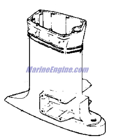 Evinrude Exhaust Housing Parts for 1977 140hp 140740S
