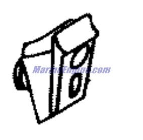 Johnson Lower Engine Cover Parts for 2002 40hp J40RLSNF