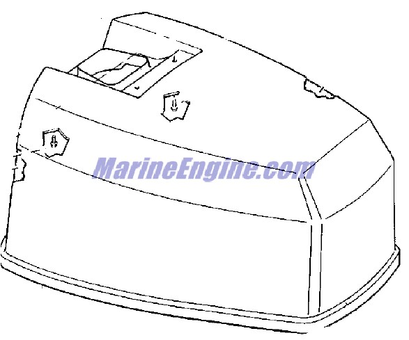 Evinrude Motor Cover Parts for 1977 55hp 55773D Outboard Motor