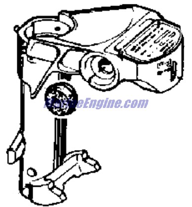 Evinrude Exhaust Tube And Swivel Bracket Parts for 1963