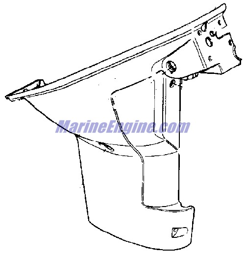 Evinrude Lower Unit Group Parts for 1965 9.5hp 9522