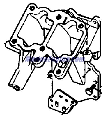 Evinrude Carburetor Group Parts for 1968 9.5hp 9822E