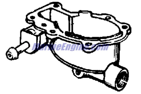 Johnson Carburetor Group Parts for 1969 4hp 4R69B Outboard