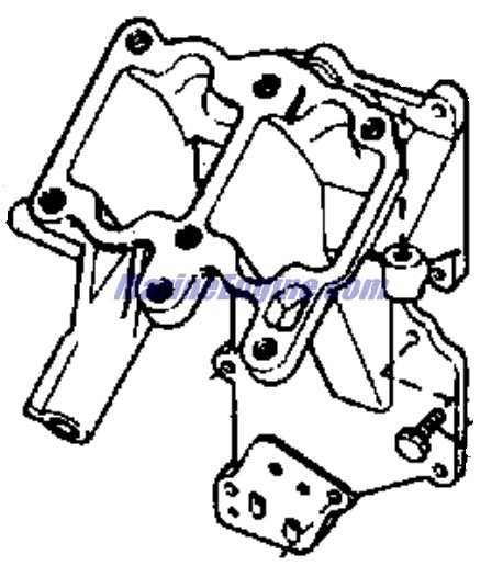 Johnson Carburetor Group Parts for 1970 9.5hp 9R70C