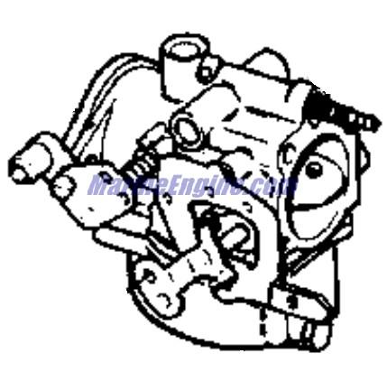 Johnson Carburetor Parts for 1972 50hp 50ESL72C Outboard Motor