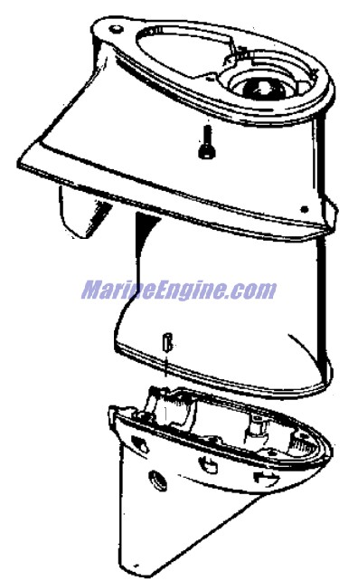 Johnson Gearcase Group Parts for 1970 25hp 25R70E Outboard