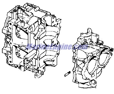Evinrude Cylinder & Crankcase Parts for 1978 35hp 35853R