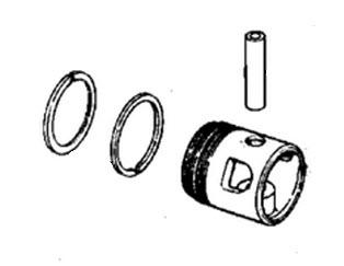 Evinrude Crankshaft & Piston Parts for 1976 55hp 55673E