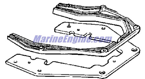 Johnson Motor Cover Parts for 1975 85hp 85ESL75E Outboard