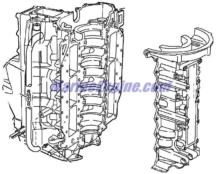 Evinrude Cylinder & Crankcase Parts for 2003 150hp