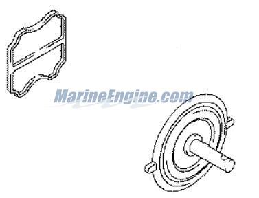 Johnson Fuel Pump 4hp Parts for 2004 4hp J4RL4SRC Outboard