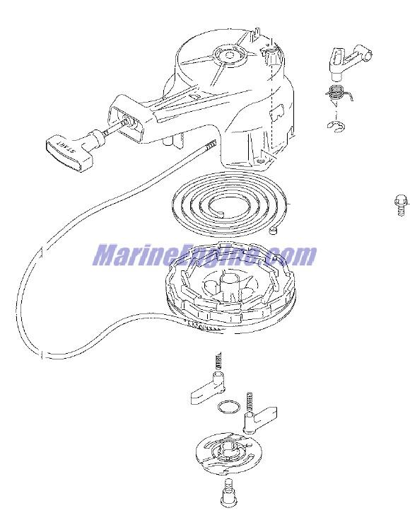 Johnson Recoil Starter Parts for 2005 4hp J4RL4SOR