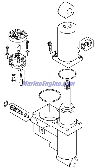 Evinrude Power Trim/tilt Hydraulic Parts for 2001 40hp