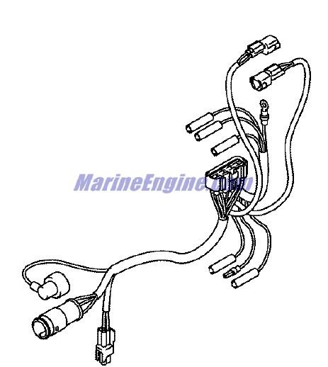 Johnson Remote Control Conversion Kit Parts for 2005 25hp